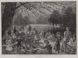 An Autumn Afternoon by the Ornamental Water in St James's Park by Henri Lanos