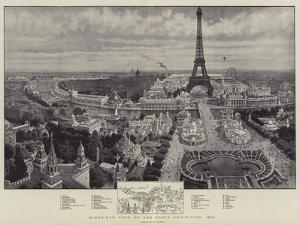 Bird'S-Eye View of the Paris Exhibition, 1900 by Henri Lanos