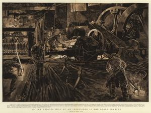 In the Rolling Mill of an Ironworks in the Black Country by Henri Lanos