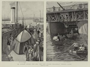 On Wheels across the Sea, the New Roller Steamboat Ernest Bazin by Henri Lanos