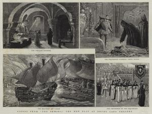 Scene from The Armada, the New Play at Drury Lane Theatre by Henri Lanos