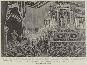 State Funeral of M Pasteur, the Ceremony at Notre Dame, Paris by Henri Lanos