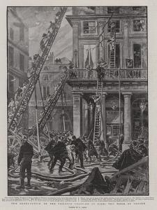 The Destruction of the Theatre Francais by Fire, the Work of Rescue by Henri Lanos