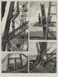 The Eiffel Tower at the Paris Exhibition by Henri Lanos