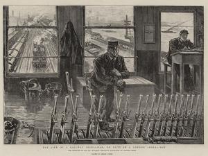 The Life of a Railway Signalman, on Duty in a London Signal-Box by Henri Lanos
