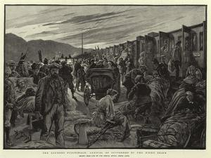 The Lourdes Pilgrimage, Arrival of Sufferers by the Night Train by Henri Lanos