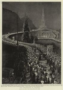 The Procession at Lourdes by Henri Lanos