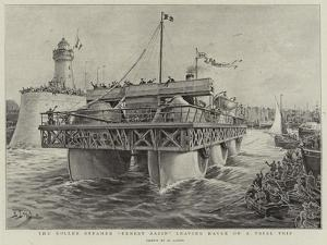 The Roller Steamer Ernest Bazin Leaving Havre on a Trial Trip by Henri Lanos