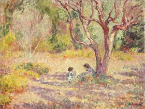 Games in the Shade of the Garden; Jeux a L'Ombre Du Jardin, C.1906-1907 by Henri Lebasque