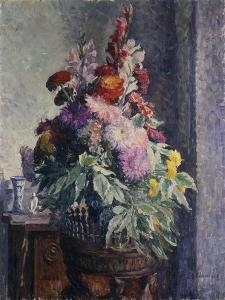 Interior with Bouquet of Flowers by Henri		 Lebasque