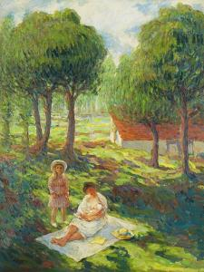Mother and Child in a Landscape by Henri Lebasque
