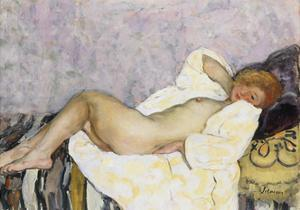 Reclining Nude; Nu Couche by Henri Lebasque