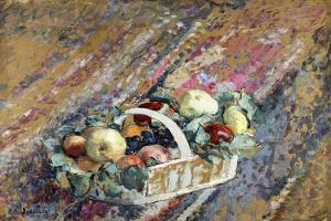 Still Life with a Basket of Fruit; Nature Morte Au Panier De Fruits by Henri Lebasque
