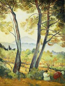 Summer Landscape in the South of France by Henri Lebasque