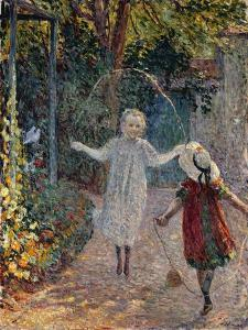 Young Girls Playing in the Garden by Henri Lebasque