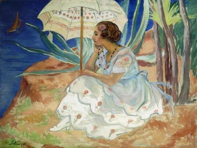 Young woman with an Umbrella, Saint Maxime