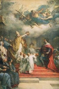 The Coronation of Charlemagne by Henri Leopold Levy