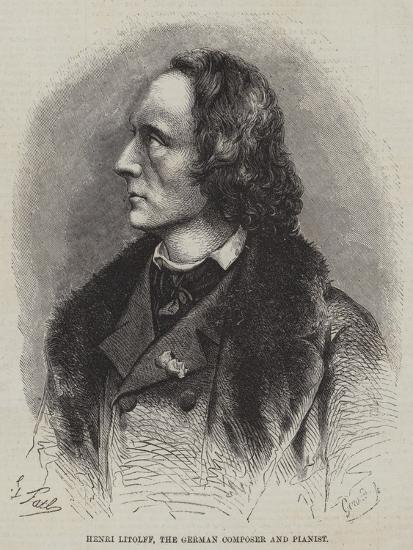 Henri Litolff, the German Composer and Pianist--Giclee Print