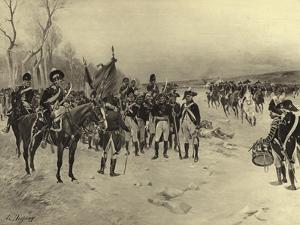 Battle of Ballinamuck, 1798 by Henri-Louis Dupray