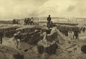 Battle of Bomarsund, 1854 by Henri-Louis Dupray