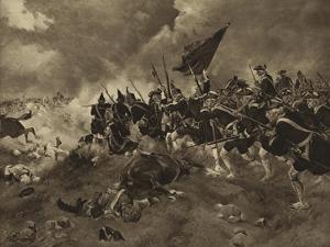Battle of Dettingen, 1743 by Henri-Louis Dupray