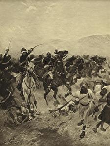 Battle of Fatehabad, 1879 by Henri-Louis Dupray