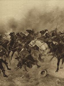Battle of Marston Moor, 1644 by Henri-Louis Dupray