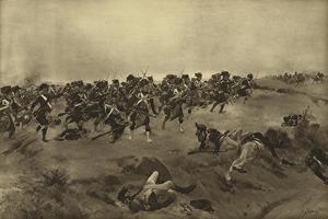 Battle of Quatre Bras, 1815 by Henri-Louis Dupray