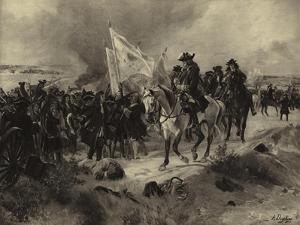 Battle of Ramillies, 1706 by Henri-Louis Dupray