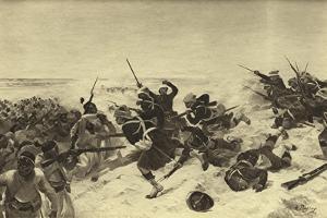 Battle of Tel El-Kebir, 1882 by Henri-Louis Dupray
