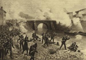 Battle of Toulouse, 1814 by Henri-Louis Dupray