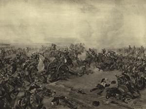 Battle of Waterloo, 1815 by Henri-Louis Dupray