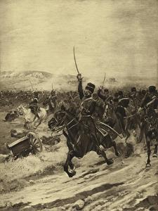 Charge of the Light Brigade, Battle of Balaclava, 1854 by Henri-Louis Dupray