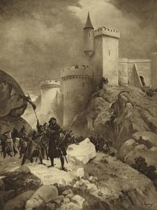 King Richard I of England at the Siege of Chalus, 1199 by Henri-Louis Dupray