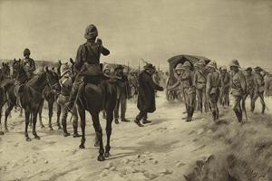 Surrender of Piet Cronje at Paardeberg, 1900 by Henri-Louis Dupray