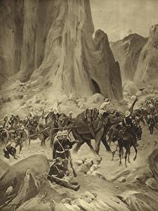 The Abyssinian War, 1868 by Henri-Louis Dupray