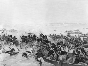 The Battle of Aboukir, Egypt, 1801 by Henri-Louis Dupray