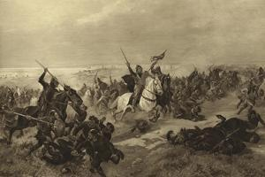 The Battle of Hastings, 1066 by Henri-Louis Dupray