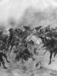 The Battle of Marston Moor, 1644 by Henri-Louis Dupray