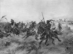 The Battle of the Spurs, 1513 by Henri-Louis Dupray