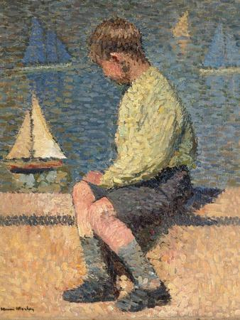 Boy with Sailing Boat at a Basin, Jardin Du Luxembourg, 1932-35