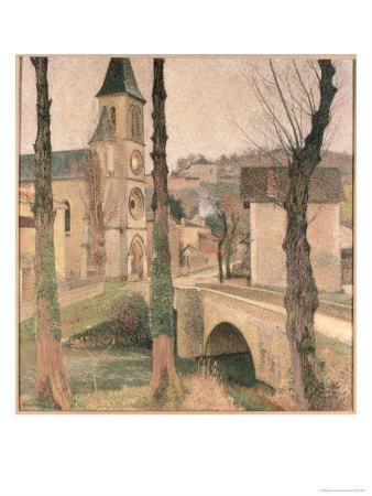 Bridge, Church and School at La Bastide