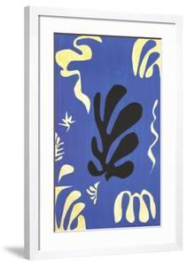 Composition fond bleu (sm) by Henri Matisse