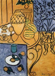 Interior in Yellow and Blue, 1946 by Henri Matisse