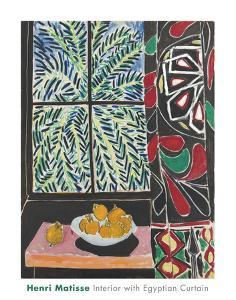 Interior with Egyptian Curtain, 1948 by Henri Matisse