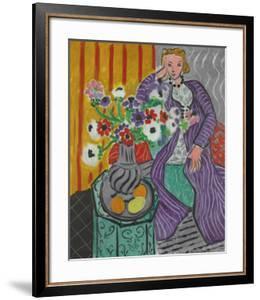 La Robe Violette et Anemones by Henri Matisse