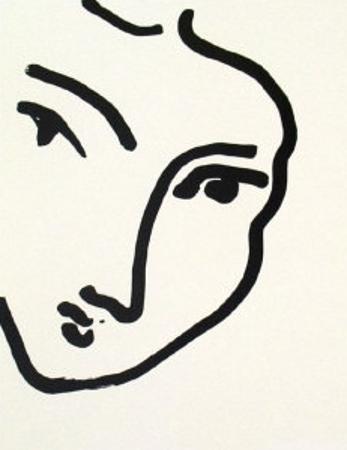 Nadia au Menton Pointu, 1948 by Henri Matisse