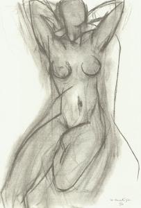 Nu dans Un Fauteuil, c.1950 by Henri Matisse
