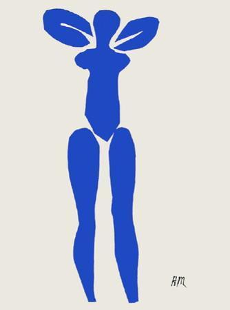 Papiers Decoupes - Nu Bleu Debout by Henri Matisse