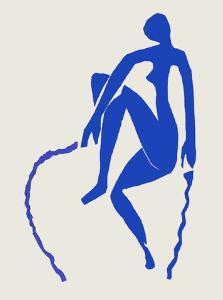 Papiers Découpés : Nu Bleu Sauteuse De Corde by Henri Matisse
